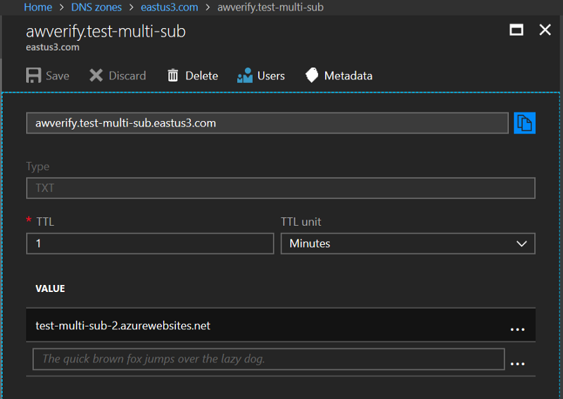Note the subtle difference — test-multi-sub-2 instead of test-multi-sub-1