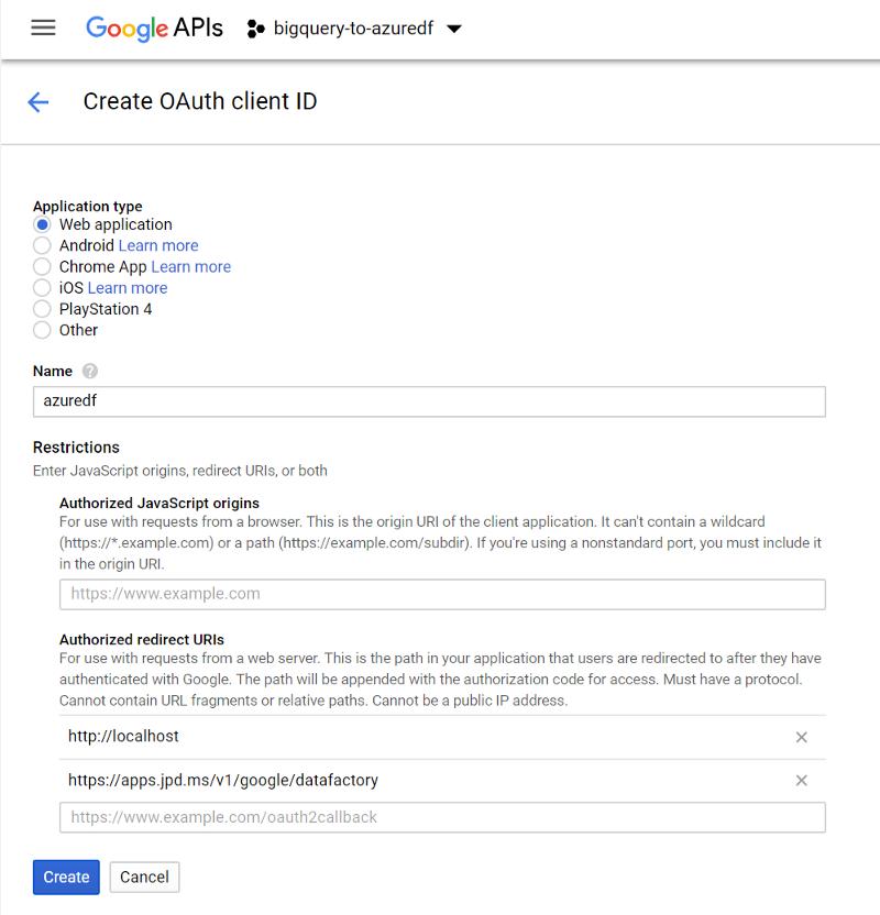 Getting your BigQuery refresh_token for Azure DataFactory · jpda dev